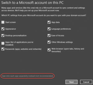 Windows 8.1 Microsoft Account Integration