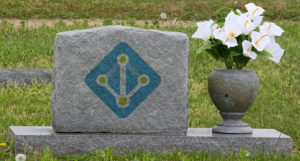 A tombstone bearing the logo for AADDS.